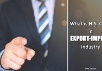 HS Code in Export Import
