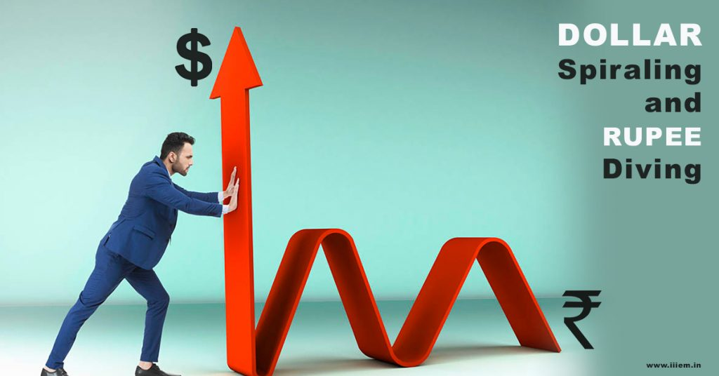 Dollar Spiraling and Rupee Diving