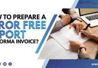 Error Free Performa Invoice